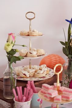 Can't go past homemade scones with jam and cream on our tiered cake stands for hire.