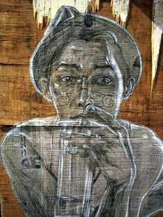 Swoon is a female street artist from Brooklyn whose works include installation art and wheatpaste prints. Her posters' design usually portrays people around her in the usual, every-day life. Brooklyn, Wow Art, Abstract Portrait, Street Art Graffiti, Outdoor Art, Street Artists, Public Art, Medium Art, Urban Art