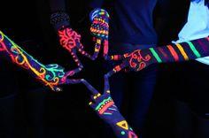 Neon Tribal Hands ❤️