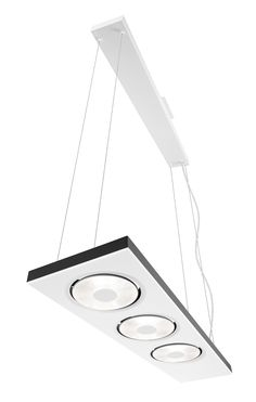 Philips Circulis 3-Light Pendant Lamp in Matte White and Anthracite finish - 406023148