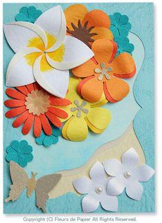 マーガレットの作り方とクラフトパンチフラワーの額飾り の画像|Paper Flowers 〜ペーパーフラワーデザイナー 前田京子(JPA本部講師)のブログ〜
