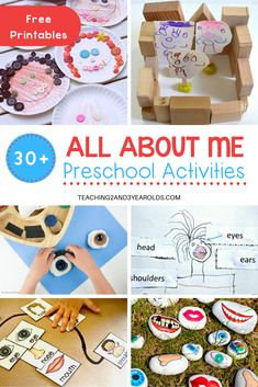 The All About Me theme is a great way for young children to not only learn and share more about themselves, but also others as well. This collection has over 30 different activities that are perfect for preschool! All About Me Activities For Toddlers, Preschool About Me, Body Preschool, Preschool Lesson Plans, Preschool Learning Activities, Preschool Activities, Preschool Printables, Educational Activities, Themes For Preschool