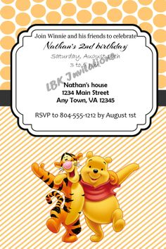 Tigger birthday invitation digital file by lastingmomentsdesign custom winnie the pooh and tigger birthday party invitation on etsy 1200 filmwisefo Gallery
