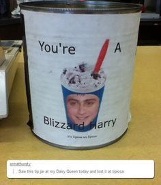 You're a blizzard...