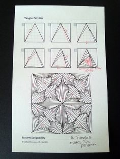 Paradox Triangles~Zentangle