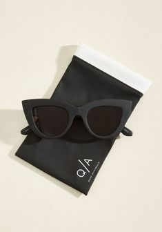 STYLECASTER | Accessories Under $50 | Fashion Accessories | Quay Kitti sunglasses in Noir