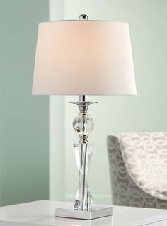 Julian Crystal Twist Column Table Lamp
