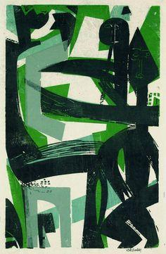 "thirdorgan: "" HAP Grieshaber (Germany, 1909 - 1981) Das Fest 1968 """