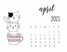 Cat Calendar, Print Calendar, Free Printable Calendar, Calendar Design, 2021 Calendar, Calendar Ideas, Study Pictures, Instagram Frame, Lettering Tutorial
