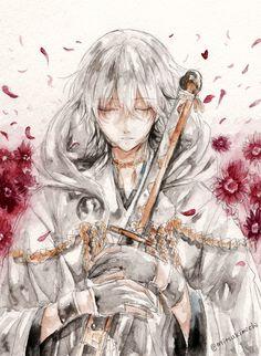 【「ガーベラ(赤)」花言葉: 神秘、燃える神秘の愛】 鶴丸国永