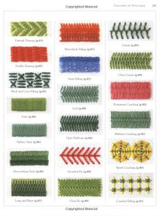 Different types hand embroidery stitches - Simple Craft Ideas Embroidery Sampler, Hand Embroidery Stitches, Diy Embroidery, Embroidery Techniques, Cross Stitch Embroidery, Embroidery Patterns, Cross Stitch Patterns, Plastic Canvas Stitches, Plastic Canvas Patterns