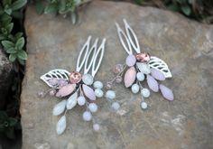 Комплект нежно-розовых гребешков