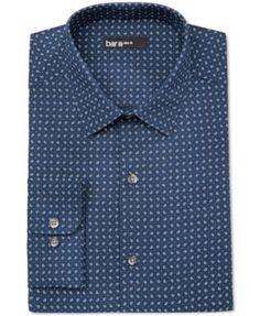 Bar III Men's Slim-Fit Pine-Print Dress Shirt, Only at Macy's