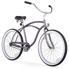 "26"" Firmstrong Urban Man Single Speed Beach Cruiser Bicycle, Matte"