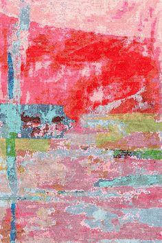 Art turned into area rug, collaboration between Rai Alexandra and M Designs  |  ICFF13