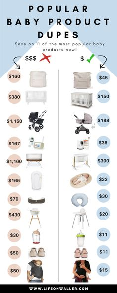 baby product dupes get your most favorite baby items diaper bags cribs strollers monitors bassinets baby nest nursing pillow high chair bottles moccasins baby wrap everything you want for less! Dupes, Baby Must Haves, New Born Must Haves, Baby Registry Essentials, Baby Registry Items, Newborn Essentials, Baby Registry Must Haves, Baby Checklist Newborn, Baby Registry Checklist