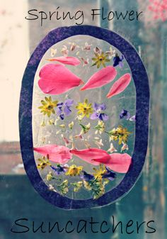 Spring Flower Suncatcher DIY