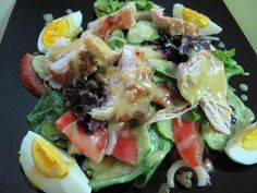 Salad with mustard-honey dressing Top Salad Recipe, Salad Recipes, Tasty, Yummy Food, Cooking Recipes, Healthy Recipes, Russian Recipes, Food Dishes, Food And Drink