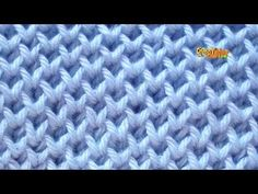 How to Knit PANAL-Honeycomb Brioche Stitch 2 needles - dos agujas Baby Knitting Patterns, Knitting Stitches, Stitch Patterns, Crochet Patterns, Diy Crafts Knitting, Diy Crafts Crochet, Honeycomb Stitch, Tunisian Crochet, Crochet Videos