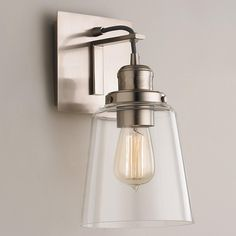 Vice Wall Sconce / $71 / I like the bronze/graphite