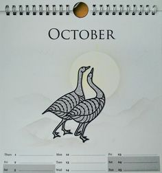 Clarity geese stamp - by Lynne Lee
