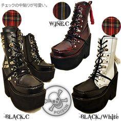 Rakuten: ★Price down! Race up thickness bottom ブーツゴスロリブーツ Harajuku fashion platform boots YOSUKE U.S.A ヨースケ shoes mail order - Shopping Japanese products from Japan
