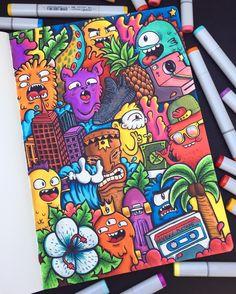 Colorful drawings, graffiti doodles, graffiti wall, kawaii doodles, cute do Graffiti Art, Wie Zeichnet Man Graffiti, Graffiti Doodles, Graffiti Drawing, Cute Doodle Art, Doodle Art Designs, Doodle Art Drawing, Doodle Doodle, Drawing Ideas