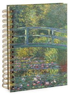 Monet Bridge Lined Spiral Journal 6x8