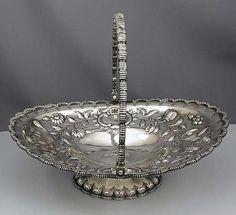 Tiffany Antique Sterling Silver Cake Basket