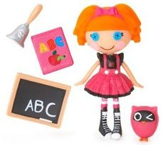 Bea Spells-a-lot Mini Doll (S1 #8) Sewn from A school girl's uniform Sewn on October 16th (Dictionary Day) Pet Owl