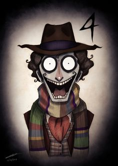 All The Doctor Who Doctors As Tim Burton Animation Characters