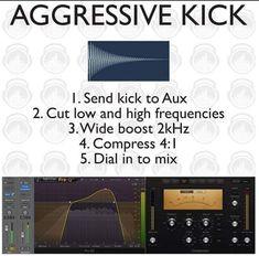 Kick drum mixing technique