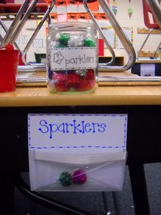 """Classroom management: student earn """"sparklers"""" for good behavior. Six sparklers for student or for team earns student or team a reward. Can hang on students chairs or at front of classroom on bulletin board Classroom Fun, Kindergarten Classroom, Future Classroom, Classroom Organization, Classroom Activities, Behavior Incentives, Classroom Behavior Management, Behaviour Management, Classroom Incentives"""