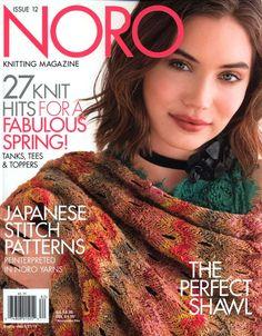 "Photo from album ""Noro Knitting Magazine Spring/Summer 2018 on Yandex. Crochet Book Cover, Crochet Books, Knit Crochet, Crochet Pattern, Vogue Knitting, Knitting Books, Lace Knitting, Knitting Magazine, Crochet Magazine"