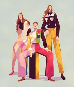 Took some time off drawing to draw this thing. Based on a photo of Haim in Calvin Klein @haimtheband @calvinklein