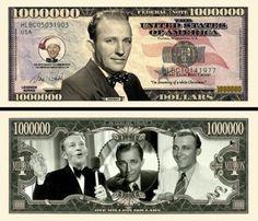 Bing Crosby Million Dollar Bill