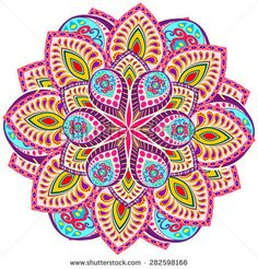 Abstract Ethnic Ornate Background For Design Mandala Art, Mandala Rosa, Mandala Canvas, Mandala Painting, Mandala Wallpaper, Mandala Coloring Pages, Happy Colors, Whimsical Art, Colour Schemes