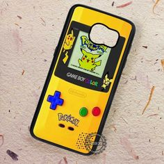 Yellow Game Boy Cute Pokemon Pikachu - Samsung Galaxy S7 S6 S5 Note 7 Cases & Covers