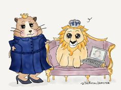 Though #TheRoyalHamster is ready for 1st engagements of 2017, Plush Lion is otherwise engaged. *catches him binge-watching @TheCrownNetflix*