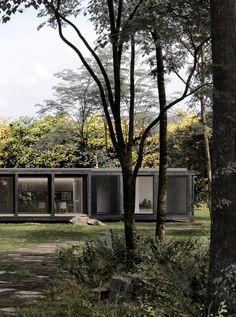 Architektur EFH #architektur #EFH #schweiz #Switzerland #aargau #Zürich #Einfamilienhaus #Architekturbüro #Studiodati #Innenarchitektur #vorfabriziert #vorgefertigt #modular #Holz #modern #zeitlos #Waldhütte #Cabin #wood #forest China Cabinet Makeovers, Green Nature, Studio, Most Beautiful, Mansions, House Styles, Modern, Home Decor, Law School