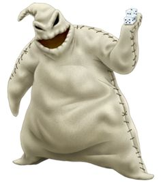"Oogie Boogie is the main antagonist in Tim Burton's 1993 stop-motion Disney film The Nightmare Before Christmas. He is voiced by Ken Page. Oogie's outside appearance is very simple. He is covered from head to toe in a grey or green burlap sack, and an obvious seam is visible along the sides. Oogie is quite rotund, with stumpy legs and fingerless arms, a stark contrast to Jack Skellington's gaunt, tall physique. Like Jack, the ""eyes"" in Oogie's head are featureless black holes, as is the..."