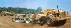 Great photo of a getting tandem pushed by a Caterpillar and International Contract was the Muddy Run reservoir in Pennsylvania and the contractor was Arundel Construction. Photo was taken sometime in (Photo: Edgar Browning). Earth Moving Equipment, International Harvester, Browning, Heavy Equipment, Tandem, Caterpillar, Great Photos, Pennsylvania, Antique Cars