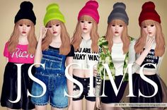 Colorful Beanies by JS Sims3 - Sims 3 Downloads CC Caboodle