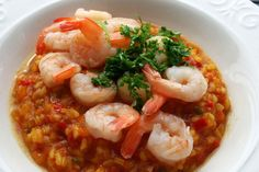PAELLA CU CREVEȚI Paella, Shrimp, Traveling, Meat, Recipes, Food, Viajes, Recipies, Essen