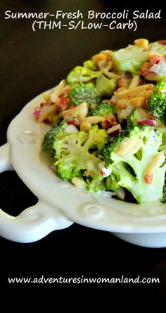 Even if you don't think you like broccoli (and I KNOW I don't!), the sweet and tangy dressing on this Summer-Fresh Broccoli Salad will change your mind!