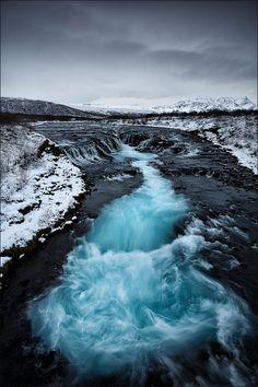 Turquoise River, Brúárfoss, Iceland #nature #belleza #río