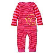 giggleBABY™ Striped Coveralls - Girls newborn-24m