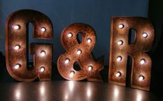 Rustic Wedding Day Initials  Letter Lights  Hand Made by BobCool, £65.00