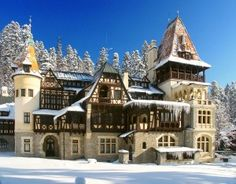 Queen Maries Castel in Sinaia, Romania Peles Castle, Medieval Castle, Places Around The World, The Places Youll Go, Around The Worlds, Beautiful Castles, Beautiful Places, Romanian Castles, Visit Romania