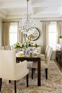 Formal Transitional Dining Room by Jeffrey and Deborah Fisher